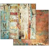 "Stamperia 'Time is an Illusion Collection' - 12"" x 12"" Paper Pad - SBBL33"