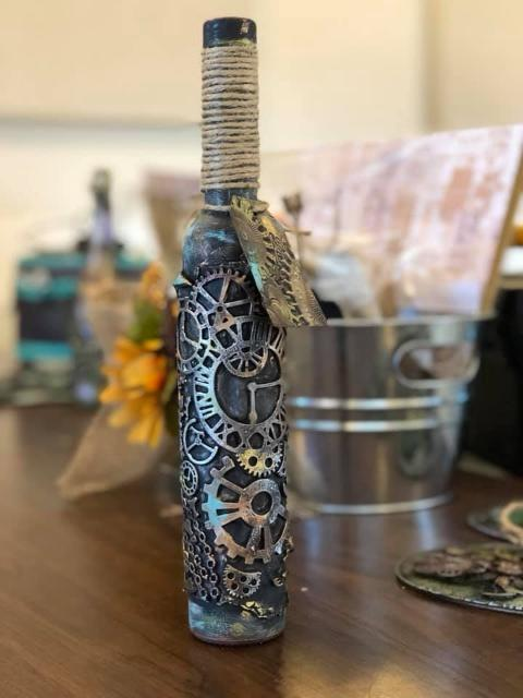 Mixed Media Altered Bottle (Kamloops BC) - April 26th