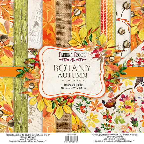 NEW Fabrika Decoru 'Botany Autumn' 8x8 Pad -FDSP-02074