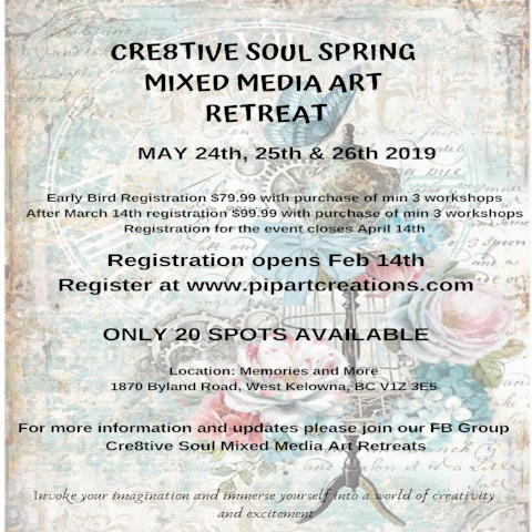 Cre8tive Soul Spring Mixed Media Art Retreat