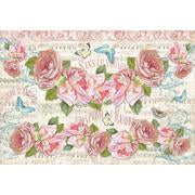 Stamperia 48 x 33cm Decoupage Rice Paper -Rose Butterflies - DFS268