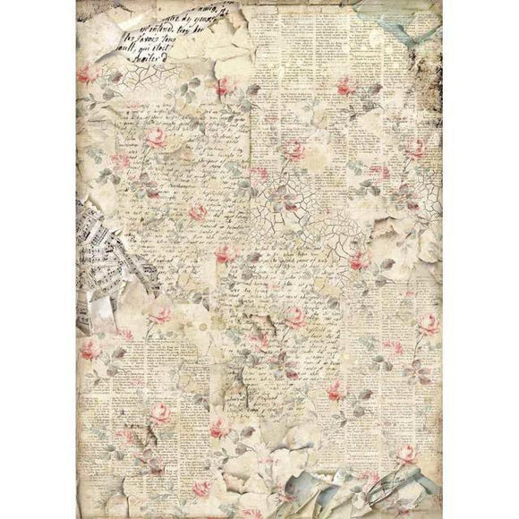 Stamperia Decoupage Rice Paper A3-  Imagine Sound of Roses DFSA3056