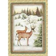 Stamperia A4 Decoupage Rice Paper - Winter Botanic Reindeer DFSA4328