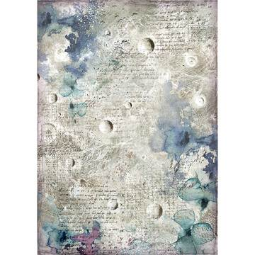 NEW Stamperia A4 Decoupage Rice Paper -  Cosmos Astral DFSA4386