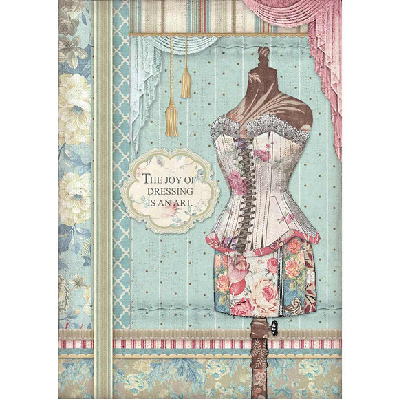 Stamperia A4 Decoupage Rice Paper -  Mannequin DFSA4398