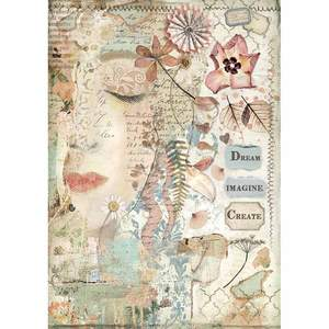 Stamperia A4 Decoupage Rice Paper -  Imagine Front Face DFSA4437