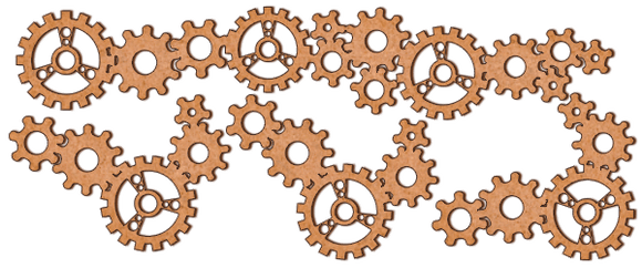 NEW Fabrika Decoru 'Gears' MDF Elements  - FDSBK-013