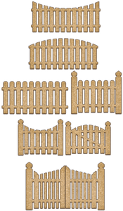 NEW Fabrika Decoru 'Picket Fences' MDF Elements  - FDSBK-151