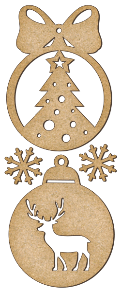 Fabrika Decoru 'Christmas Baubles' MDF Elements  - FDSBK-154