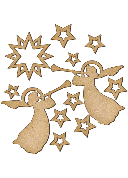 Fabrika Decoru 'Christmas Angels' MDF Elements  - FDSBK-163
