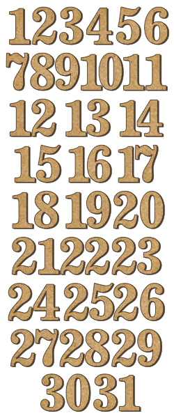 NEW Fabrika Decoru 'Numbers' MDF Elements  - FDSBK-174