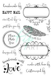 PipART- 'Handmade with Love' - A6 Stamp