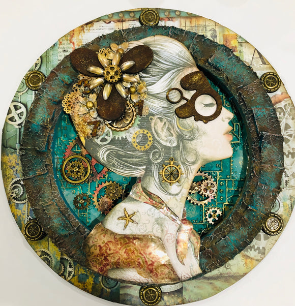 Mixed Media Steampunk Maiden & Mixed Media Magical Seahorse ONLNE Workshops Dec 12 & 13th 2020