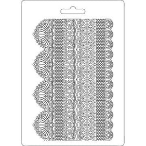 Stamperia Texture Impression Moulds - A5 - Laces - K3PTA505