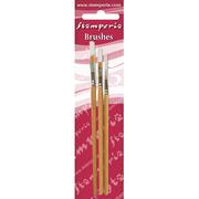 Stamperia -Set 3 Oblique Tip Brushes 4-6-8 - KR105B