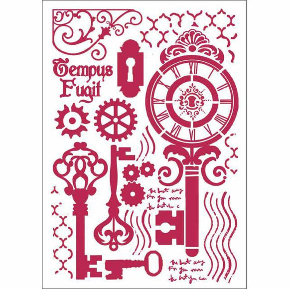 Stamperia Stencil - Flexible transparent 21x29,7cm - Keys and Locks - KSG424