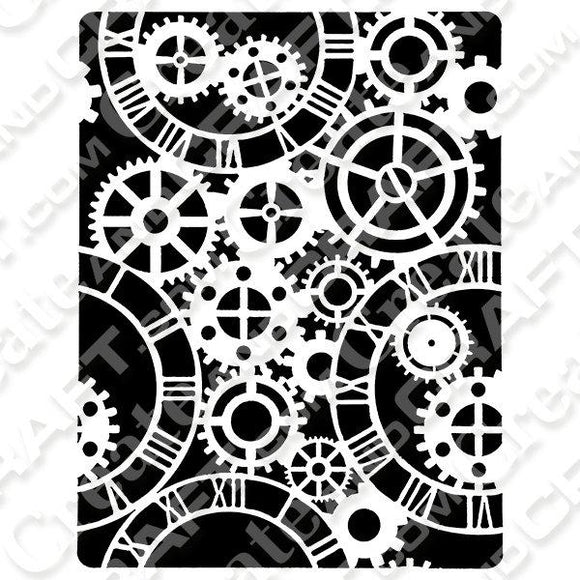 ShokART Mechanical Clocks A5 3D Stencil