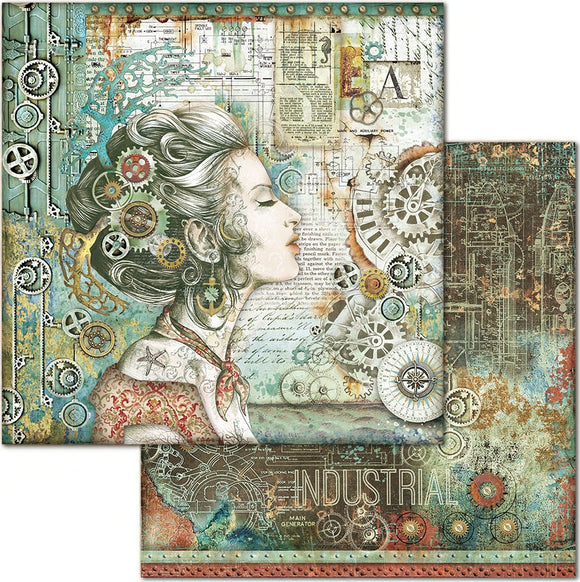 NEW Stamperia 'Sea World - Lady' -  Double Face Paper 30 x 30 SBB661