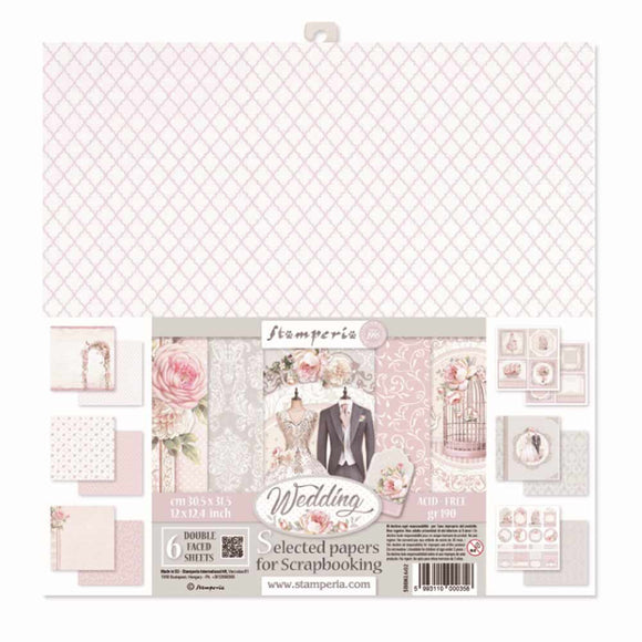 Stamperia Wedding - Double Face Paper 12