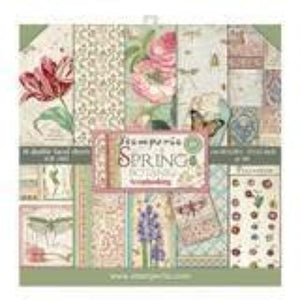 "Stamperia Spring Botanic Collection - 12"" x 12"" Paper Pad SBBL50"