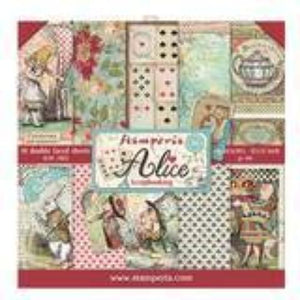 "Stamperia Alice Collection - 12"" x 12"" Paper Pad SBBL52"