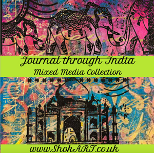 "NEW ShokART  ""Journal through India"" 8x8 Scrapbook Pad - Digital Download"