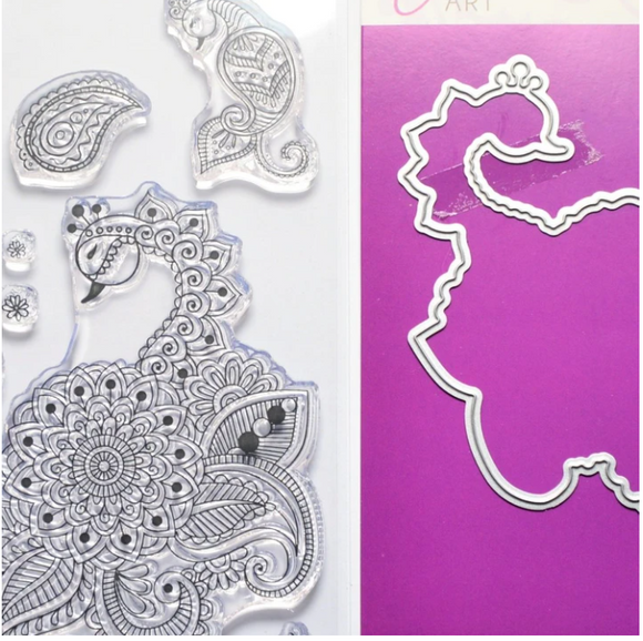 DaliART- Henna Birds Stamp with matching die- A6