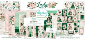 "Mintay 12x12"" Scrapbooking Paper Set with Bonus Sheet - Lady- MTLAD07"