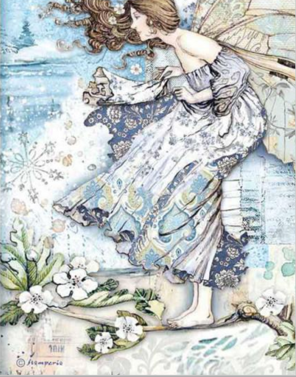 NEW Stamperia A4 Rice Paper Packed Fairy in the Wind DFSA4488