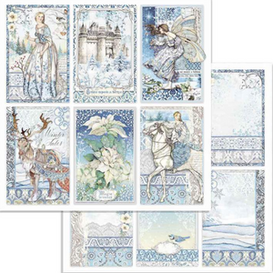 Pre-order NEW Stamperia 'Winter Tales' -  Double Face Paper 30 x 30 SBB722