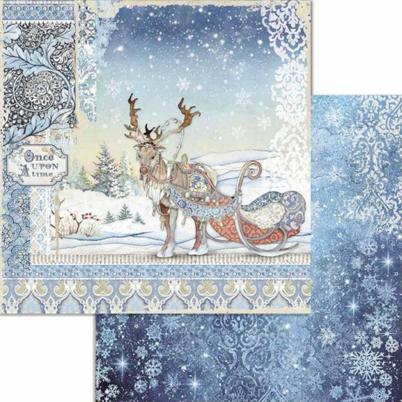 NEW Stamperia 'Fairy Tales Deer' -  Double Face Paper 30 x 30 SBB718