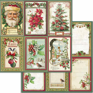 Pre-order NEW Stamperia 'Merry Christmas Cards' -  Double Face Paper 30 x 30 SBB703