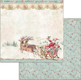 "NEW Stamperia 'Pink Christmas' - 12"" x 12"" Paper Pad - SBBL73"