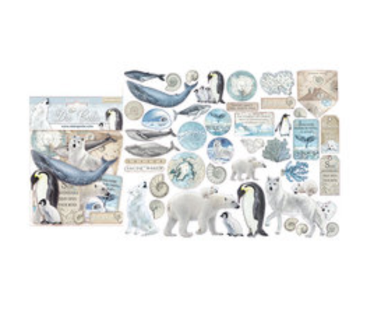 NEW Stamperia Die Cuts - Arctic Antartic 45 pieces