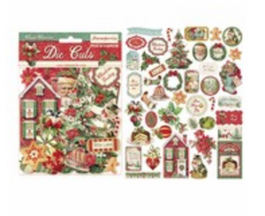 NEW Stamperia Die Cuts - Classical Christmas 45 pieces