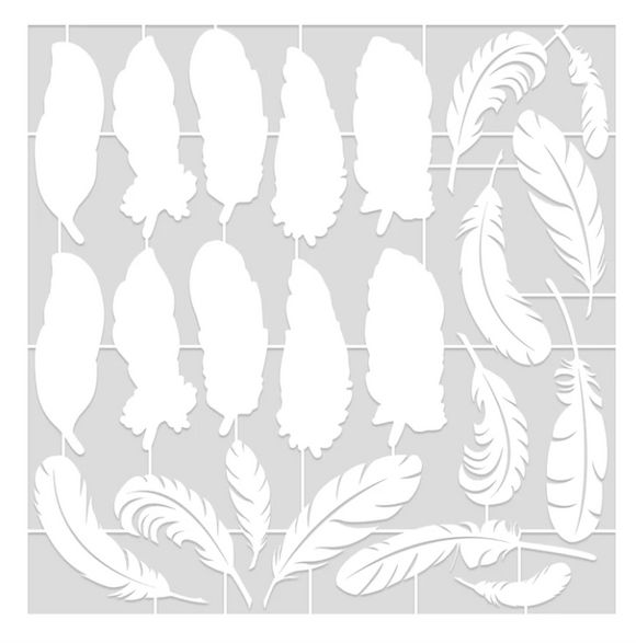 NEW Becky Seddon Designs Feathers From Heaven' Laser Cut Sheets x 4