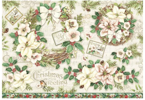NEW Stamperia 48 x 33 Decoupage Rice Paper -  Christmas DFS414
