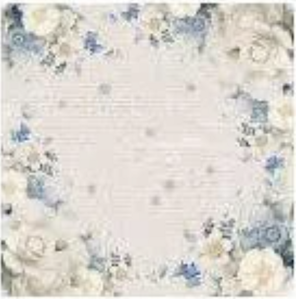 NEW Stamperia 50 x 50cm Decoupage Rice Paper - Blue Roses DFT282