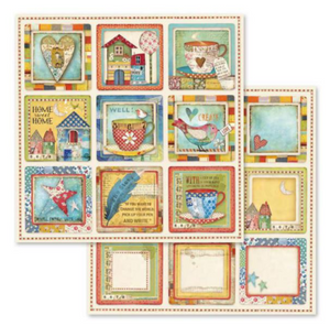 NEW Stamperia Patchwork -  Double Face Paper 30 x 30 SBB572