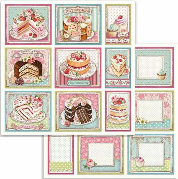Stamperia 'Sweety' -  Double Face Paper 30 x 30 SBB735