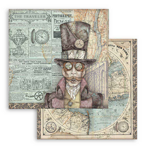 "Stamperia 'Sir Vagabond""-  Double Face Paper 30 x 30 SBB745"