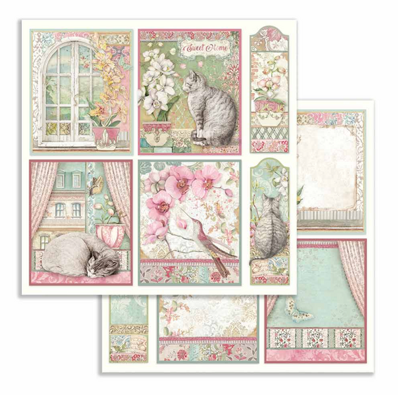 Stamperia 'Orchid and Cats - Cards