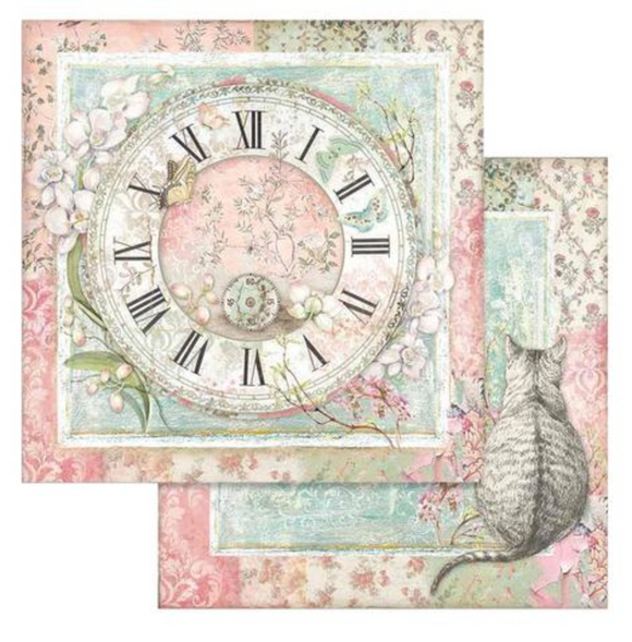Stamperia 'Orchids and Cats - Clock