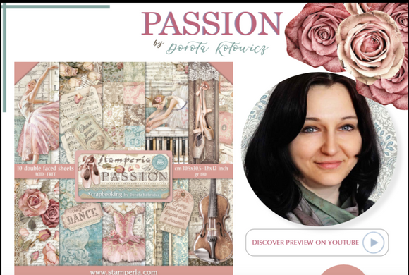 NEW Stamperia Passion Collection Overview