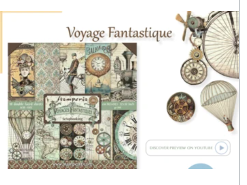 NEW Stamperia Voyages Fantastique Collection Overview