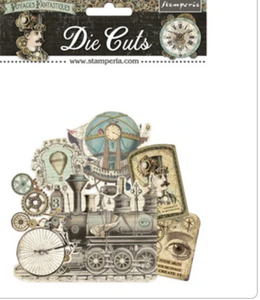 New Stamperia  - Voyages Die Cuts Assorted- DFLDC32 Pre-Order