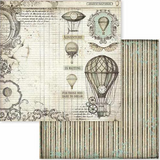 "New Stamperia Voyages Fantastiques - 8"" x 8"" Paper Pad SBBS30"