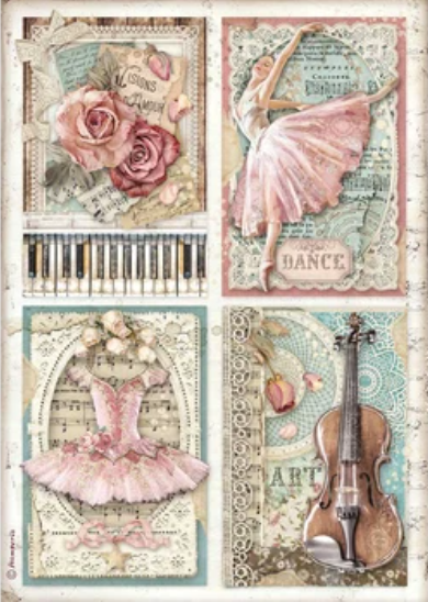 New Stamperia A4 Decoupage Passion Cards DFSA4542- Pre-Order