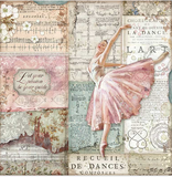 "NEW Stamperia 'Passion Dancer""-  Double Face Paper 30 x 30 SBB772"
