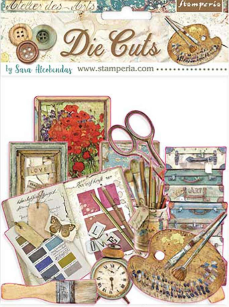 New Stamperia Atelier Des Arts - Die Cuts Assorted- DFLDC33